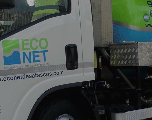 Camión cuba desatascos Econet